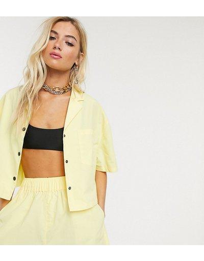 Camicia Giallo donna Camicia in nylon gialla in coordinato - COLLUSION - Giallo