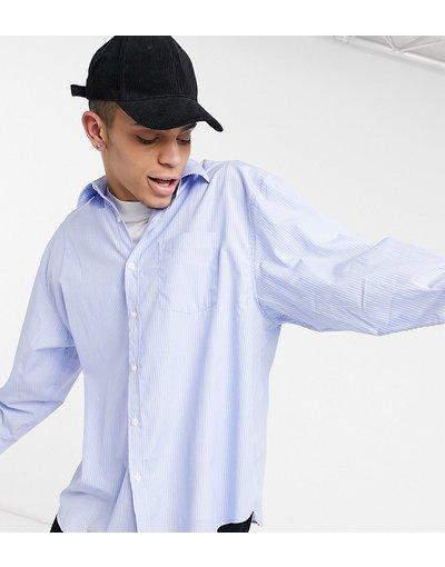 Camicia Blu uomo Camicia oversize blu rigato - COLLUSION