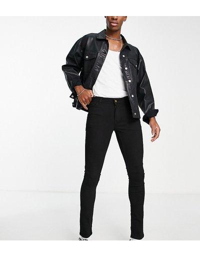 Jeans Nero uomo Jeans super skinny neri - COLLUSION x001 - Nero