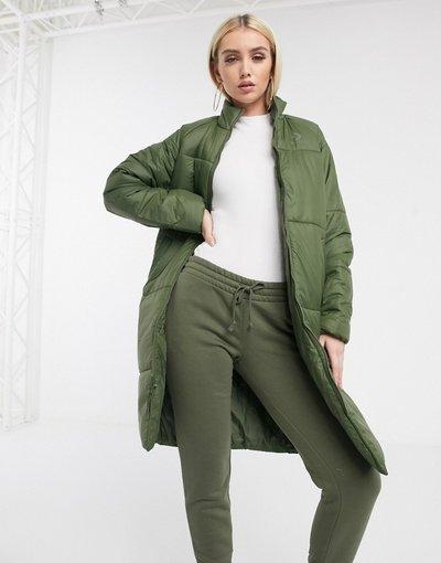 Verde donna Cappotto lungo imbottito kaki verde - Converse