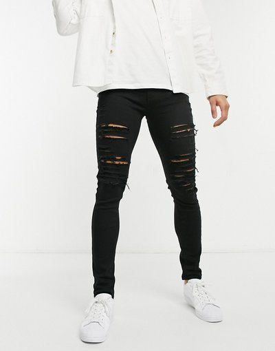 Jeans Nero uomo Jeans skinny neri - Criminal Damage - Camden - Nero