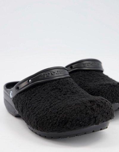 Sandali Nero uomo Zoccoli neri con pelliccia sintetica - Originals - Crocs - Nero