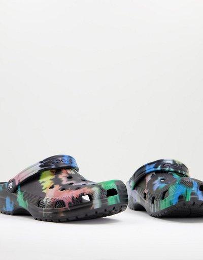 Novita Multicolore uomo Zoccoli classici in tie - dye nero multicolore - Crocs