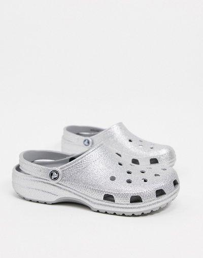 Sandali Argento uomo Zoccoli originali argento glitter - Crocs
