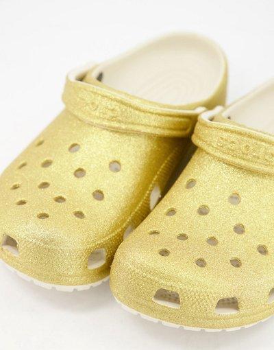 Sandali Oro uomo Zoccoli originali oro glitter - Crocs