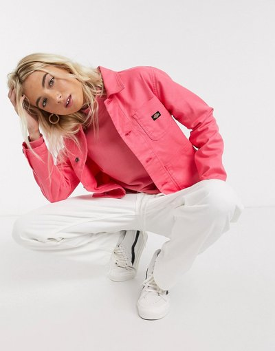 Rosa donna Giacca casual con logo a stemma - Dickies - Rosa