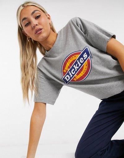 T-shirt Grigio donna shirt grigia con ferro di cavallo - Dickies - Grigio - T