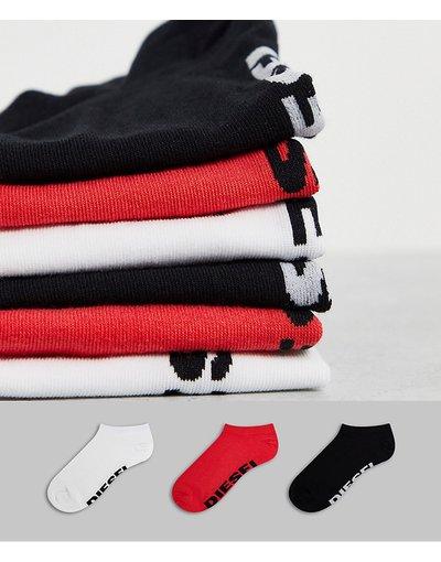 Intimo Multicolore uomo Confezione da 3 paia di calzini bianco/rosso/nero - Multicolore - Diesel