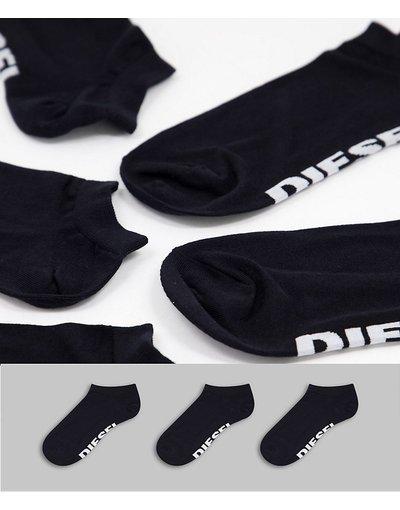 Intimo Nero uomo Confezione da 3 paia di calzini neri - Diesel - Nero