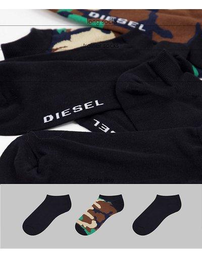 Intimo Multicolore uomo Confezione da 3 paia di calzini neri/mimetici - Multicolore - Diesel