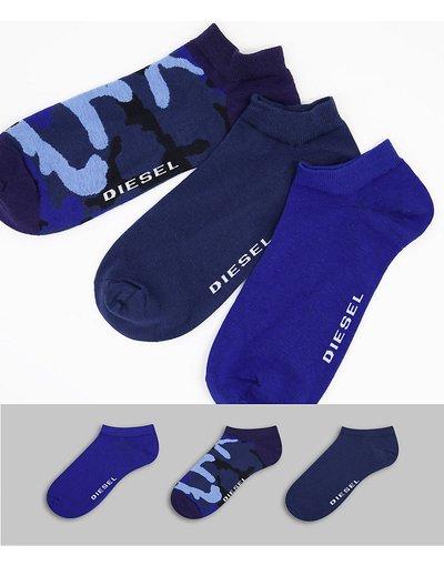 Intimo Multicolore uomo Confezione da tre paia di calzini in nero blu e mimetico - Multicolore - Diesel