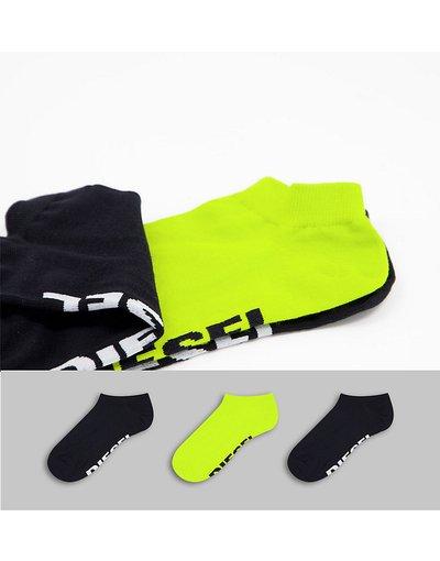 Intimo Multicolore uomo Confezione da tre paia di calzini in nero e giallo - Multicolore - Diesel