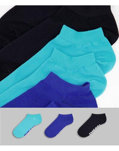 Intimo Multicolore uomo Confezione da tre paia di calzini neri/blu/turchesi - Multicolore - Diesel