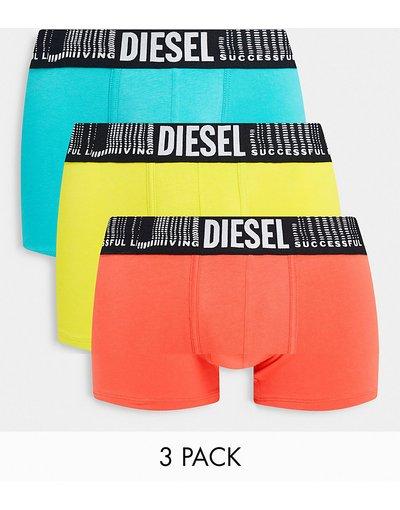 Intimo Multicolore uomo Confezione da 3 paia di boxer aderenti gialli, rossi e turchesi - Multicolore - Damien - Diesel