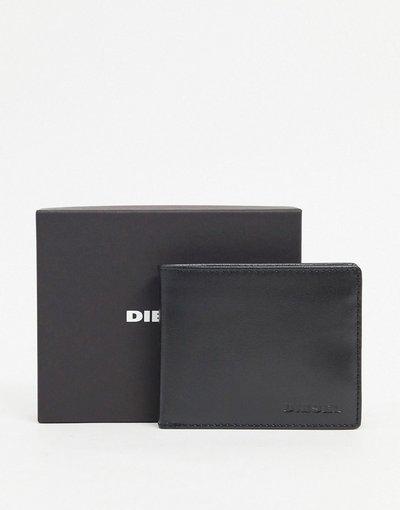Portafoglio Nero uomo Diesel: portafogli in pelle nera con logo - Nero