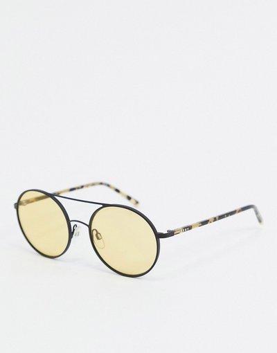 Occhiali Nero uomo Occhiali da sole rotondi - City Native - DKNY - Nero