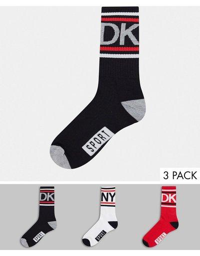 Calze Multicolore uomo Confezione da 3 paia di calzini sportivi - Multicolore - DKNY
