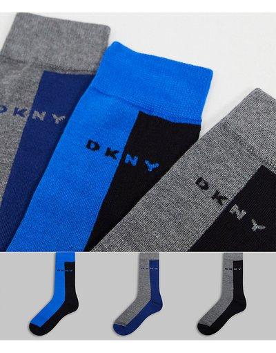 Calze Nero uomo Confezione multipack di 3 paia di calzini nero mix - DKNY - Jay