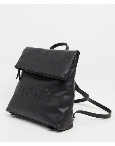 Portafoglio Nero donna Zaino nero con logo in rilievo - DKNY