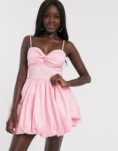 Rosa donna Prom dress molto corto con cut - out e fondo a palloncino rosa - Dolly&Delicious