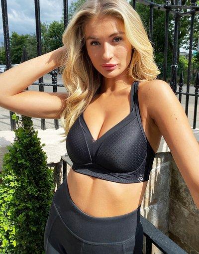 Nero donna up per attività ad alto impatto nero - Reggiseno sportivo push - Outrun - Dorina
