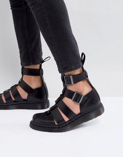 Sandali Nero uomo Sandali neri con cinturino alla caviglia - Dr Martens - Geraldo - Nero