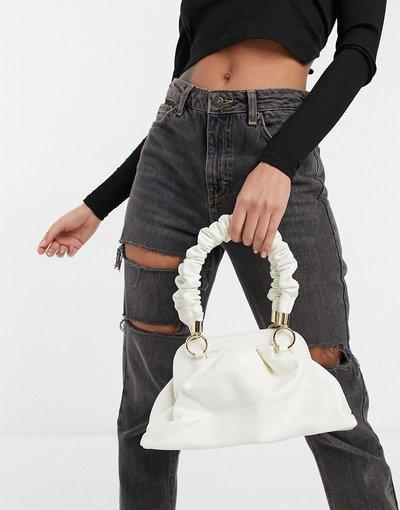 Portafoglio Bianco donna Borsa piccola bianca con manico arricciato - Ego x Molly Mae - Bianco