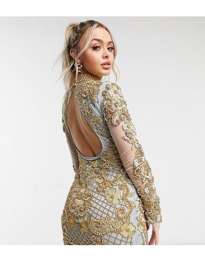 Oro donna Vestito corto decorato oro vintage e lavanda - Esclusiva A Star Is Born