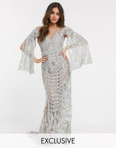 Argento donna Vestito lungo decorato argento - Esclusiva A Star Is Born