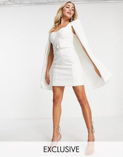 Bianco donna Vestito a mantella bianco - Esclusiva Lavish Alice
