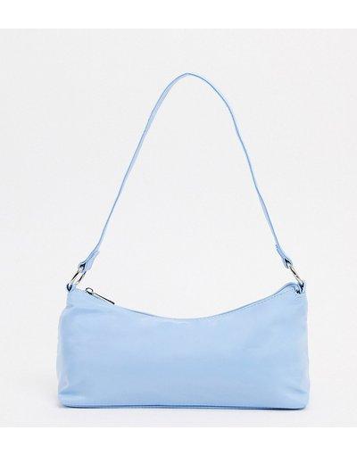 Borsa Blu donna Esclusiva My Accessories London - Borsa da spalla in nylon blu