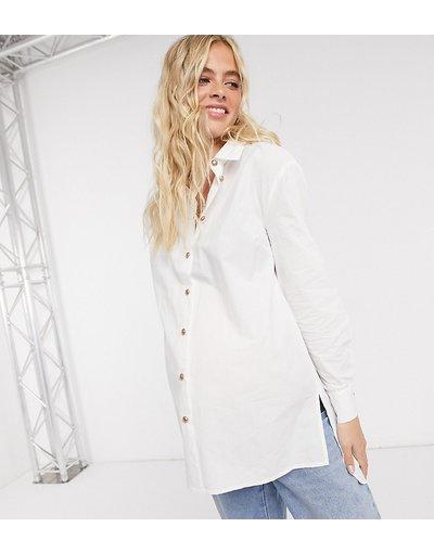 Maternita Bianco donna Esclusiva Pieces Maternity - Camicia bianca - Bianco