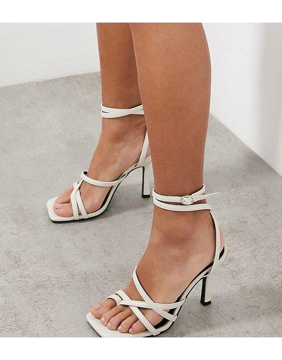 Sandali Bianco donna Sandali con fascette sottili bianco sporco - Esclusiva Raid Wide Fit - Sonia