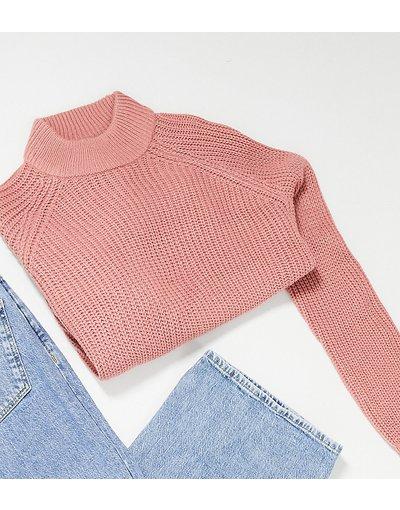 Rosa donna Esclusiva Vero Moda Petite - Maglione accollato rosa