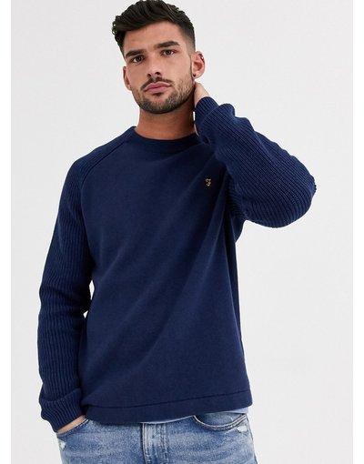 Maglione girocollo blu navy - Bouler - Farah  uomo Navy