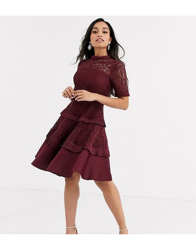 Rosso donna Vestito da prom bordeaux - Forever New Petite - Rosso