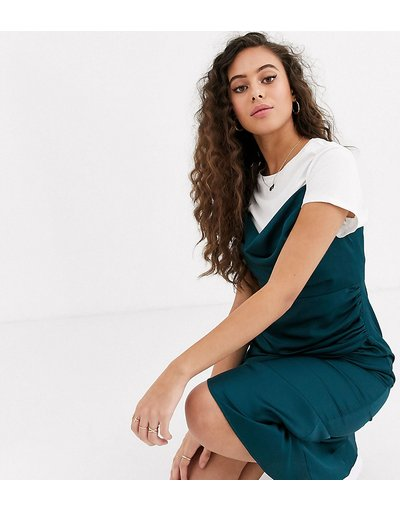 Verde donna Vestito midi con scollo ad anello verde - Forever New Petite - azzurro