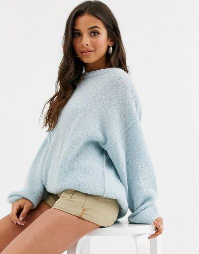 Maglione alpaca Blu donna Maglione in misto lana di alpaca - Free People - Angelic - Blu
