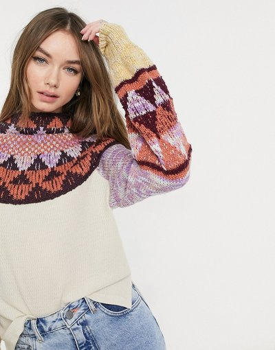 Bianco donna Swit The Small - Free People - Maglione - Bianco
