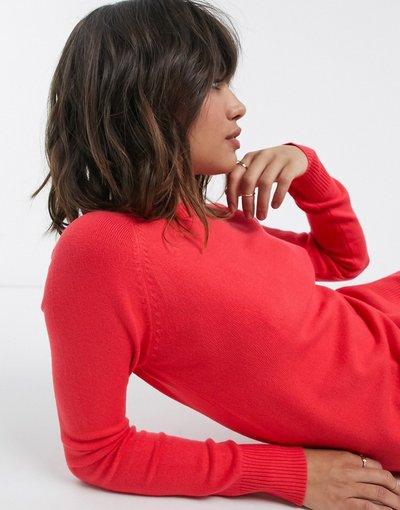 Rosso donna Maglione lavorato rosso girocollo - French Connection - Babysoft