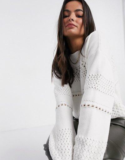 Bianco donna French Connection - Maglione bianco - Trista mozart