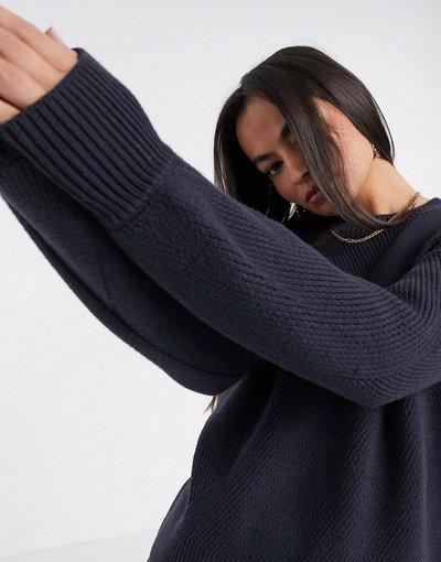 Blu donna Maglione lavorato blu - French Connection - Yasmina mozart