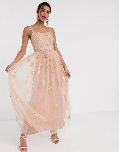 Rosa donna Vestito lungo in tulle cipria - Frock&Frill - Rosa