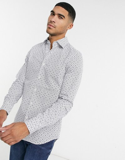Camicia Bianco uomo Camicia slim core super a maniche lunghe - Bianco - Star - G