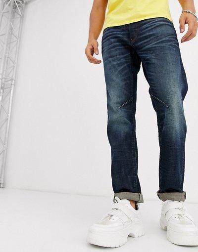 Jeans Blu uomo Jeans slim 5 tasche sostenibili lavaggio medio - Star - Staq - Blu - D - G