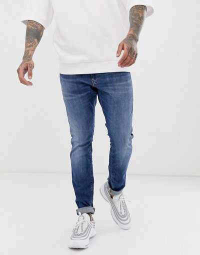 Jeans Blu uomo Jeans skinny effetto invecchiato medio - Star - Blu - G