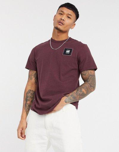 T-shirt Nero uomo shirt bordeaux - Star Raw - Dot - Nero - T - G