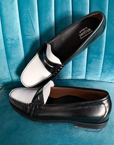 Scarpa elegante Multicolore uomo Mocassini college bianchi e neri - Easy Weejuns Larson - G.H. Bass&Co. - Multicolore