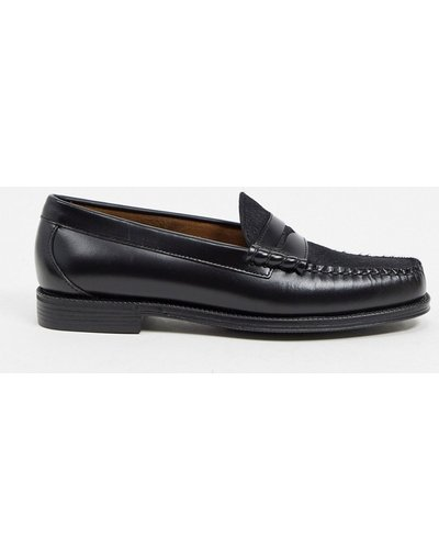 Scarpa elegante Nero uomo Mocassini in cavallino e pelle, colore nero - Easy Weejuns Larson - G.H. Bass&Co.