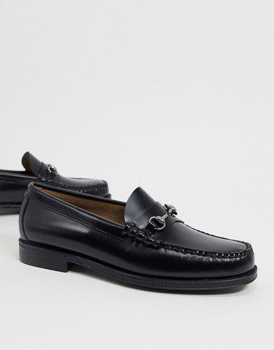 Scarpa elegante Nero uomo Mocassini in pelle neri - Easy Weejuns Lincoln - G.H. Bass&Co. - Nero moda abbigliamento